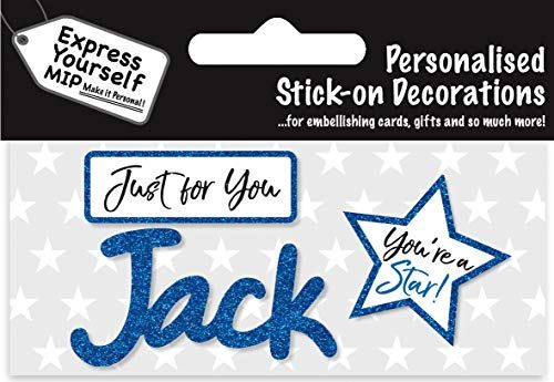 self adhesive Blue Male Name 'Jack' Sticker