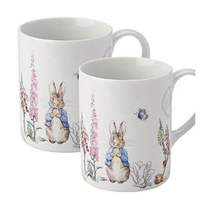 Peter Rabbit Classic Porcelain Set of 2 Mugs
