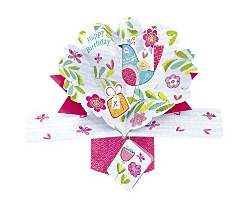 Second Nature Birthday Pop Up Card with Birds