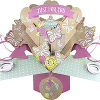 Suki Gifts International Pop Up Card Just for You Butterflies, Multi-Colour, 13 x 21 x 19 cm