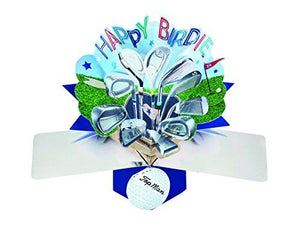 Second Nature Golf Themed Birthday Pop Up Card