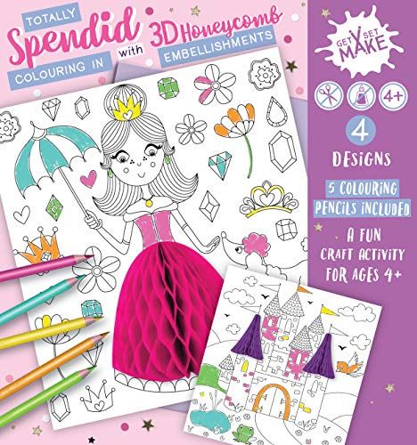 Totally Splendid Get Set Make Colouring in Set with Honeycombs