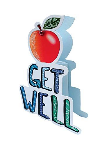 Paper Dazzle Get Well Soon 3D Greeting Card Glitter Finished PDZ038
