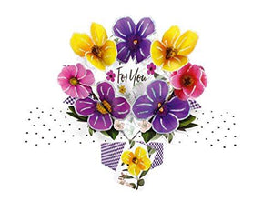"Second Nature Pop Up Card with""for You"" Lettering and Pansies"