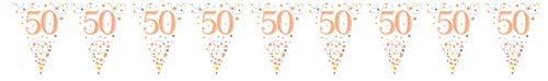 Sparkling Rose Gold 50th Bunting