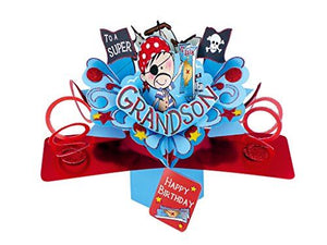 Second Nature Grandson Pop Up Birthday Card with a Pirate