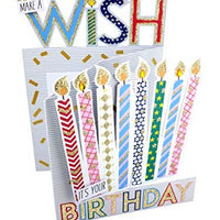 Cutting Edge Make A Wish Candles 3D Cutting Edge Birthday Card Glittered Greeting Cards DCE005