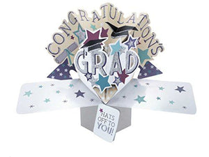 "Second Nature Pop Ups""Congratulations"" Lettering Graduation Card"