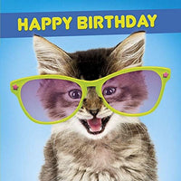 Cat in Huge Glasses Greeting Card Lenticular 3D