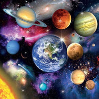 Solar System, Planets Blank Greeting Card Lenticular 3D