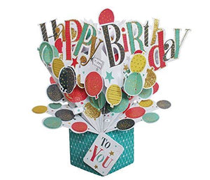 Second Nature Pop Up Birthday Card with Balloons