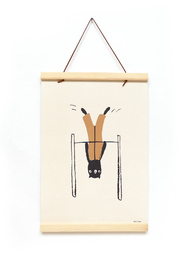 Upside-down Bunny Poster