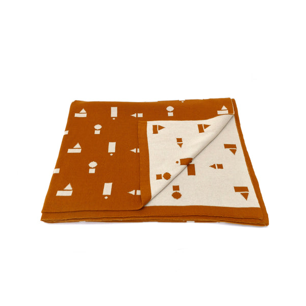 Play Blocks Blanket - Ochre