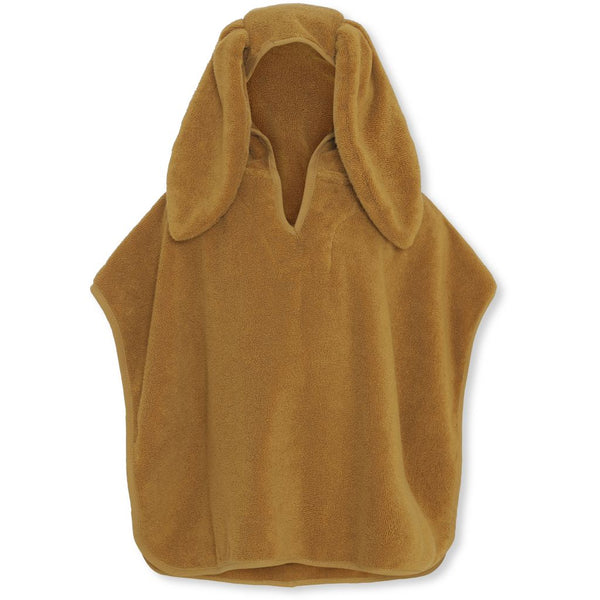 Kids Terry Poncho - Mustard