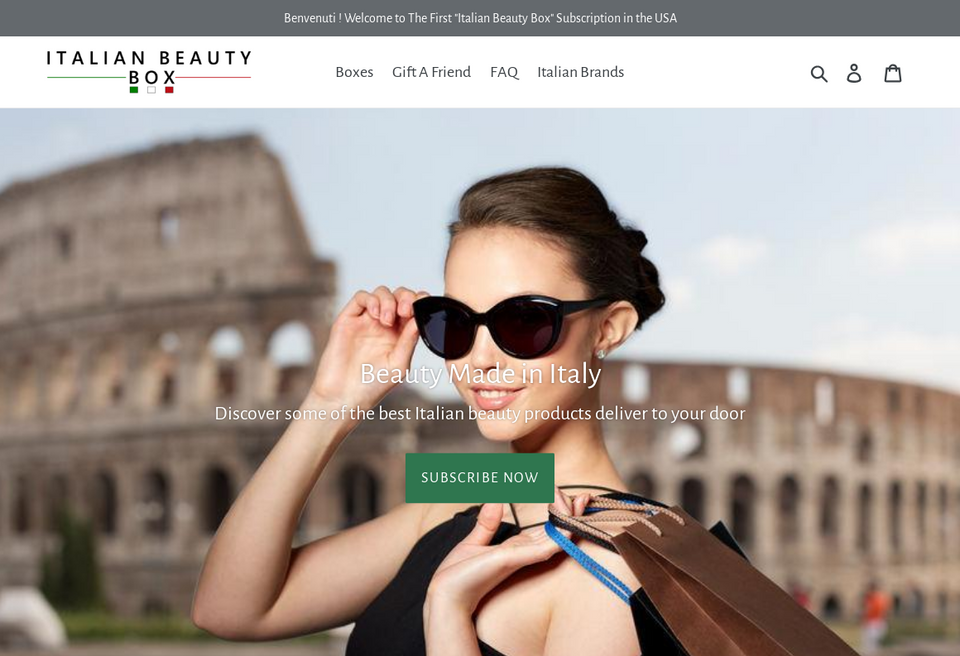Shop Italian Themed Beauty Boxes Online