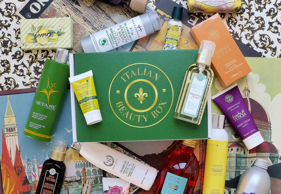 Italy Themed Subscription Box of Beauty Products