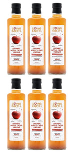 6 x 500ml - Organic Apple Cider Vinegar - Raw, Unpasteurised & Cloudy with The Mother