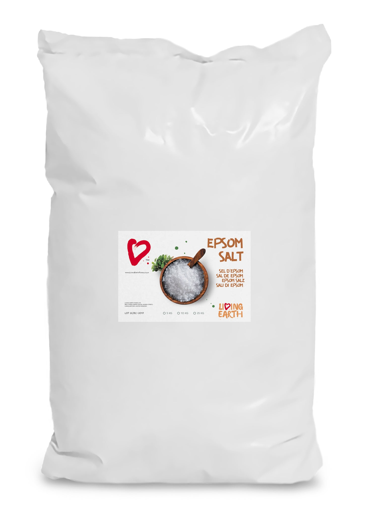 25KG,  Epsom Salts - Fantastic Bath Salts & Many other uses