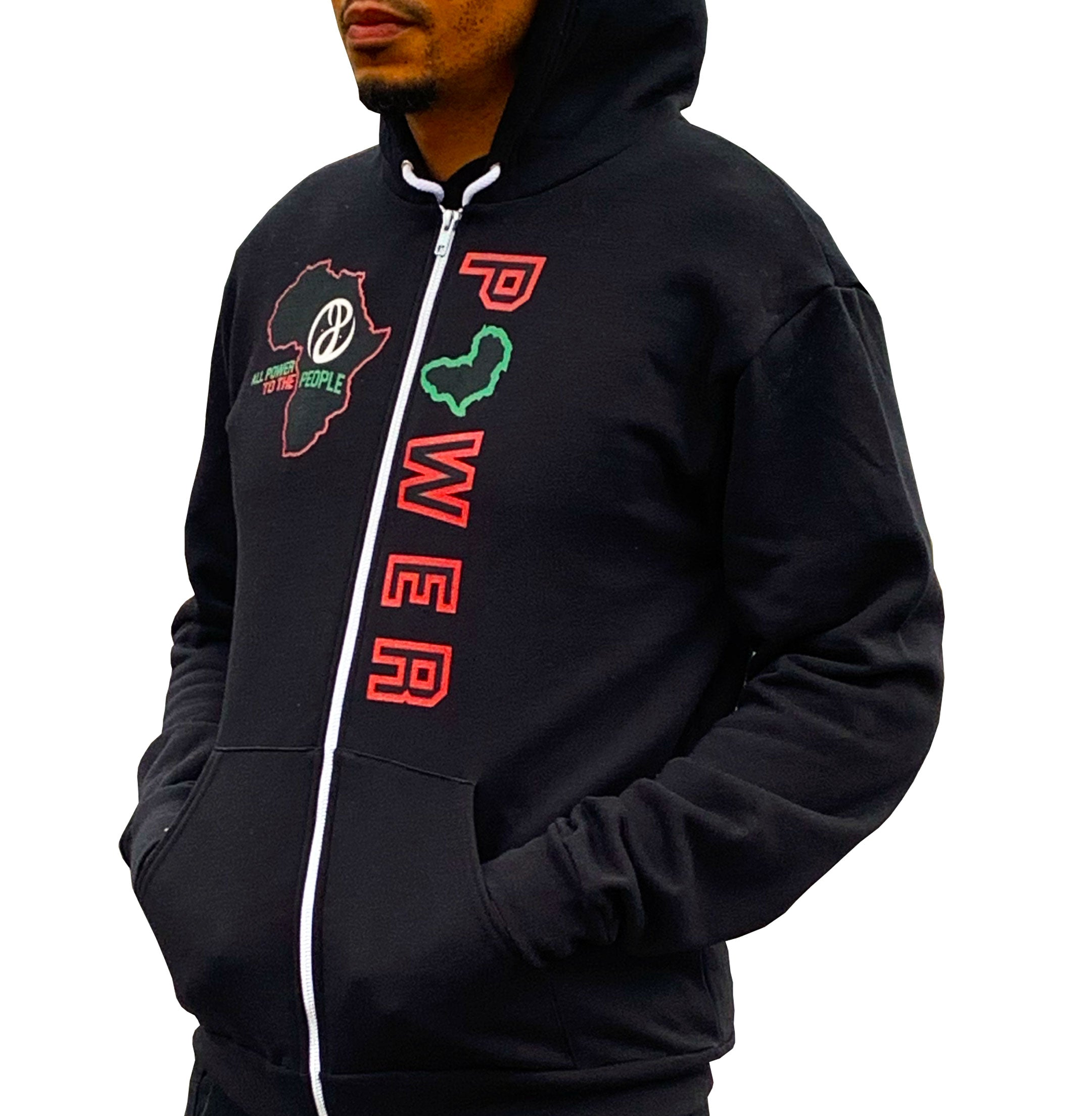 Black Unity Zip Up Hoodie
