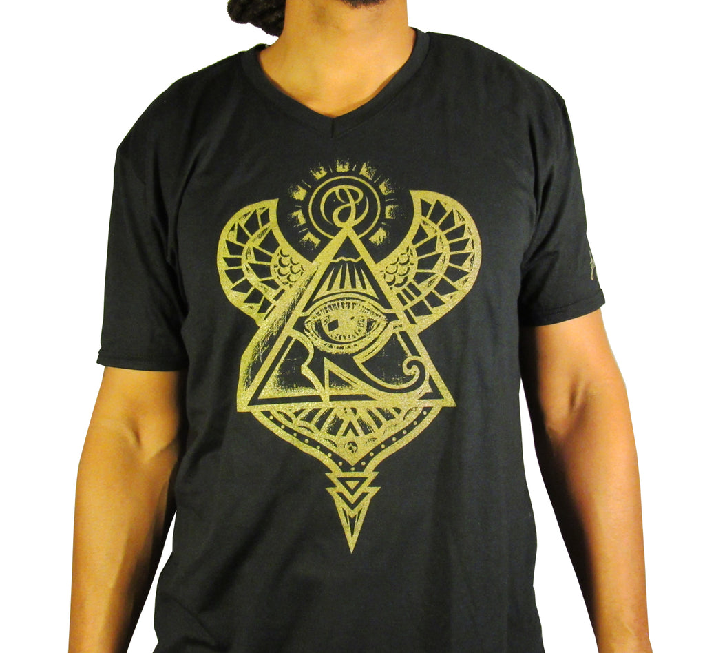 Pyramid Vortex V-Neck T-Shirt