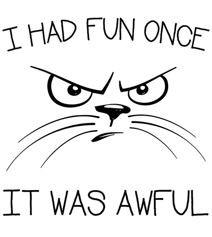 cat cartoon face - I had fun once it was awful