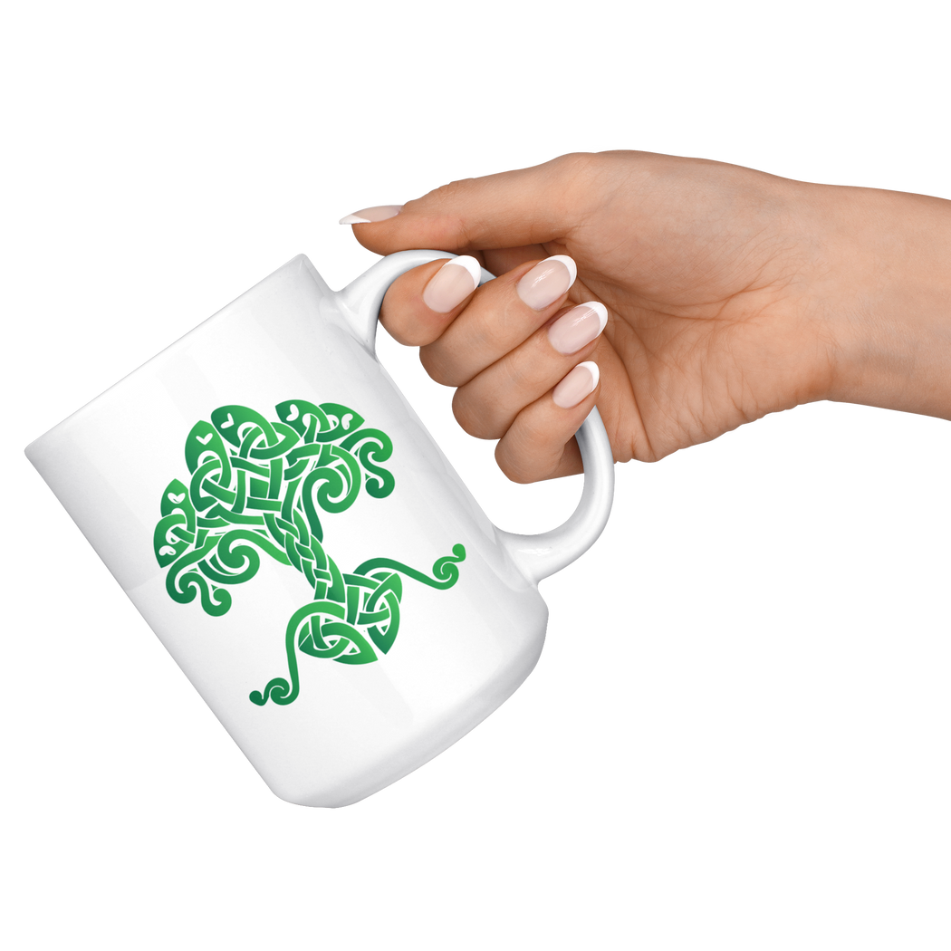 Tree of life Viking Celtic motif-- mug