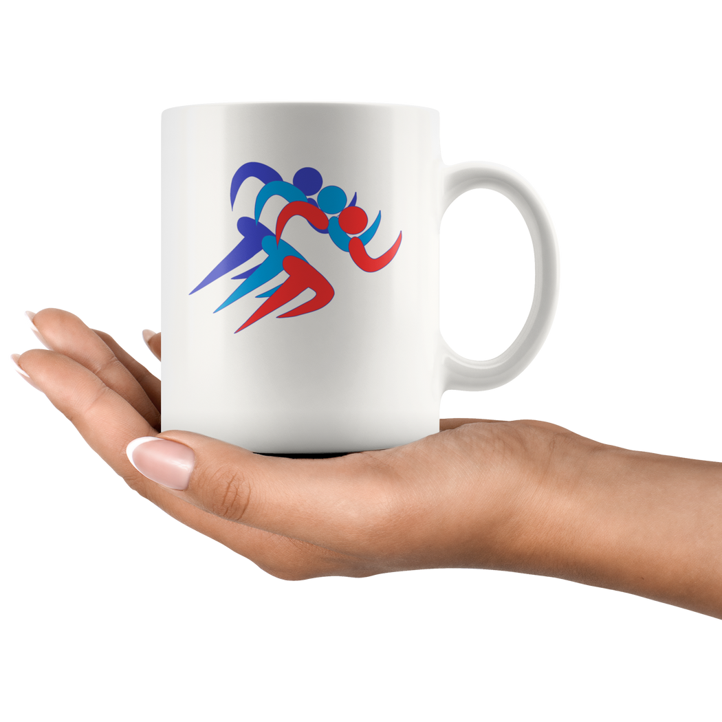 Marathon icon mug – for runners and joggers