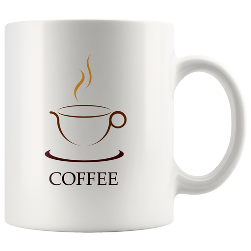 Steaming hot coffee mug