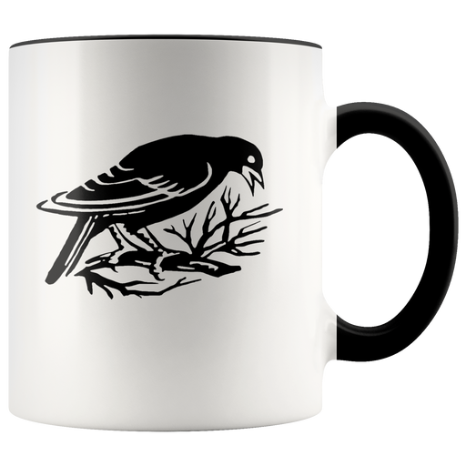 Raven / Crow mug for birdwatchers and bird lovers