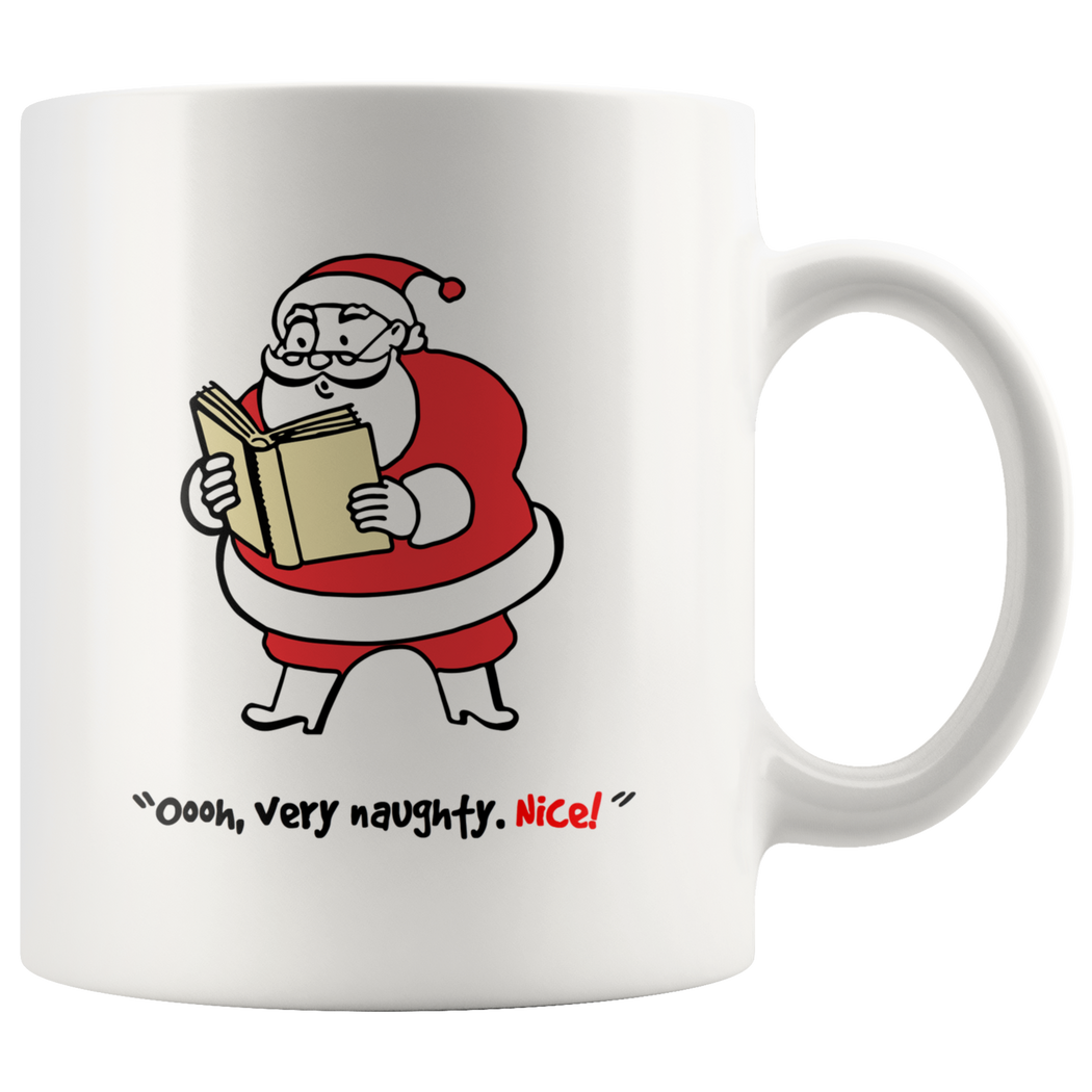 Naughty or nice -- Christmas mug