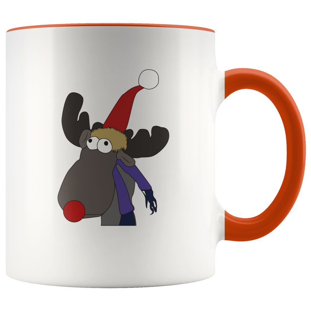 Rudolph the red-nosed reindeer Christmas mug - Merry Christmas!