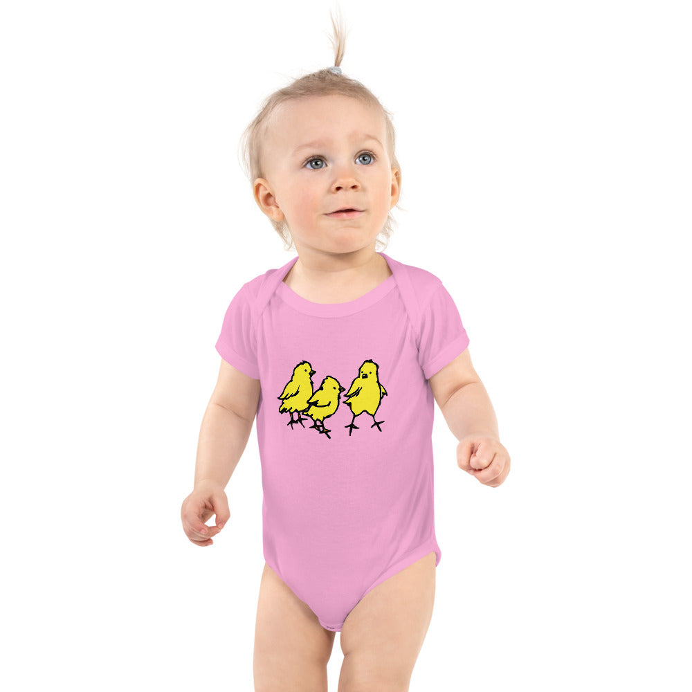 Easter chicks - infant short sleeve bodysuit