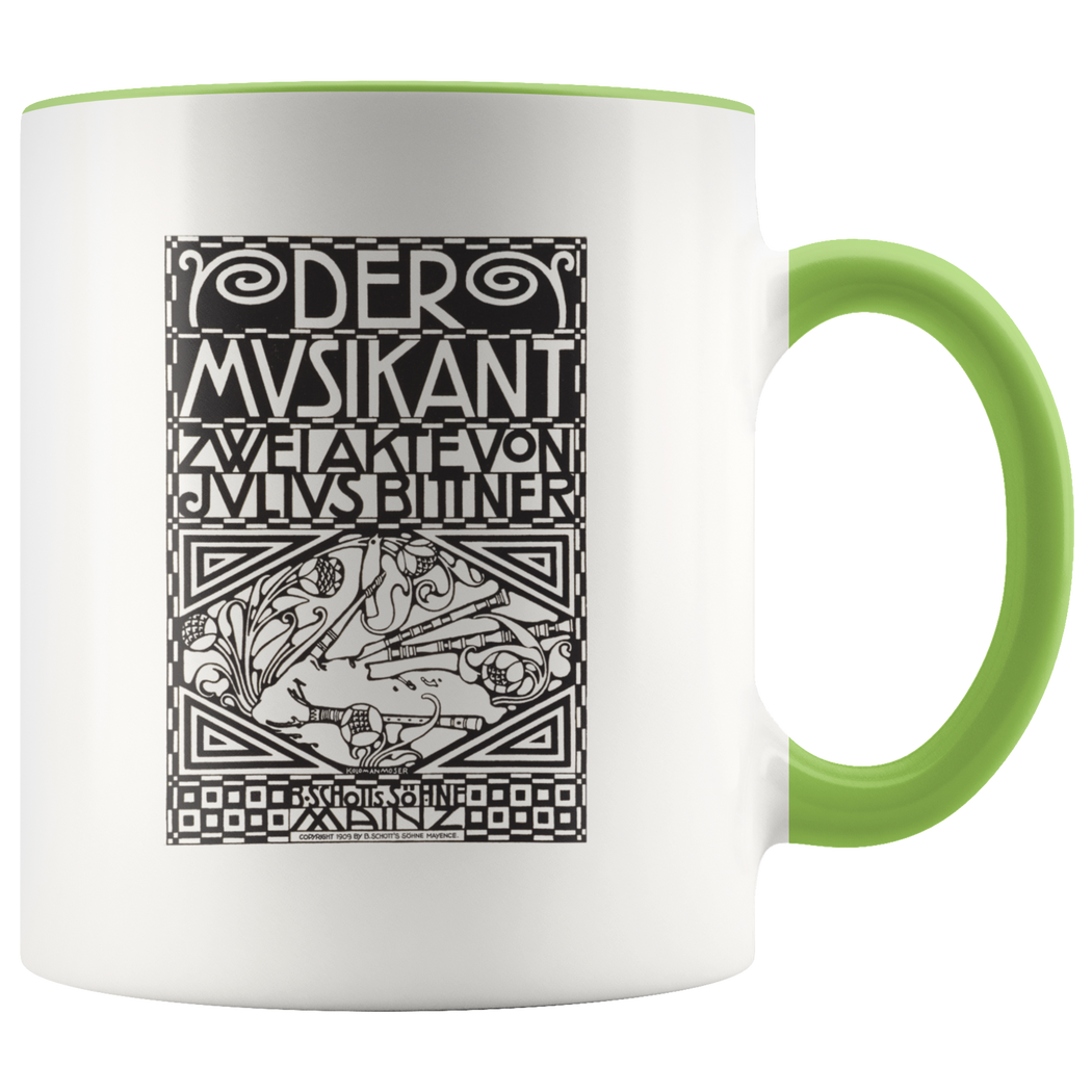 The Musician coffee mug - Viennese art nouveau (Jugendstil) design by Koloman Moser