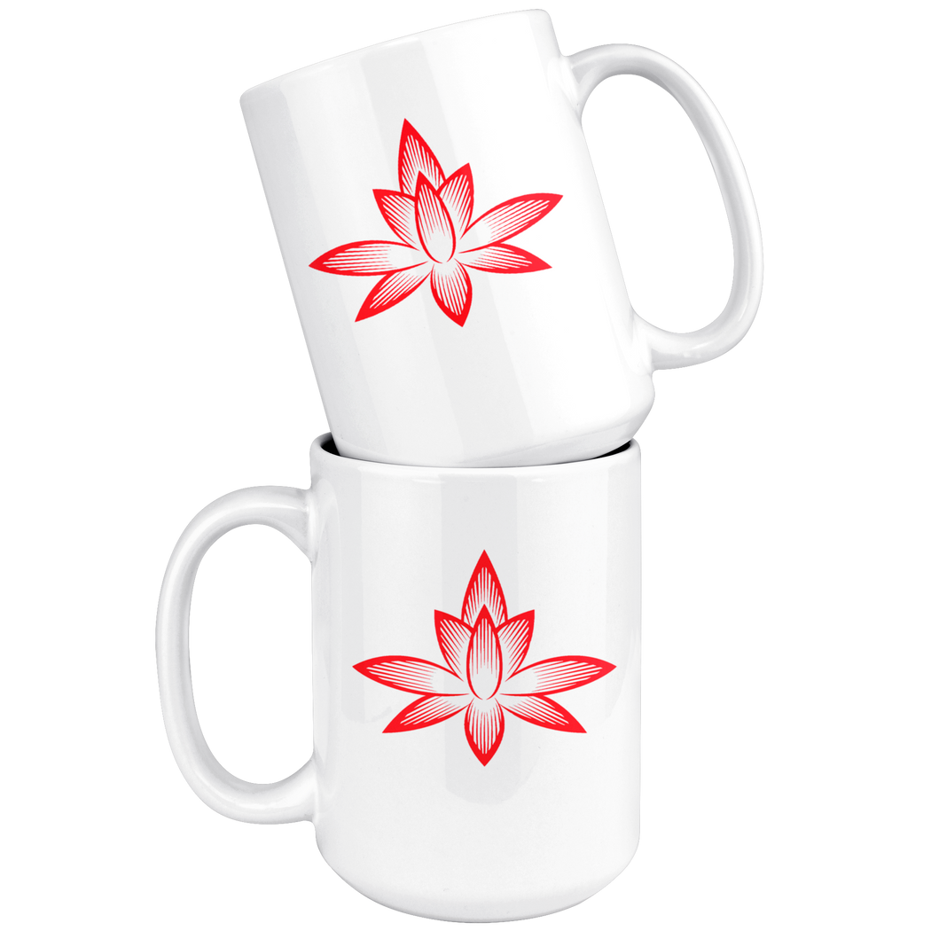 Stylized lotus – meditation and yoga mug