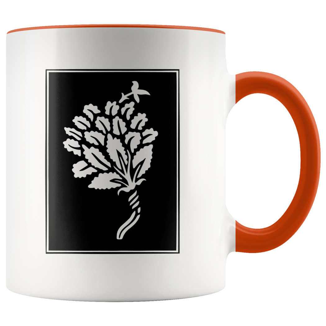 Stylized flower ornament from 1900 - coffee mug