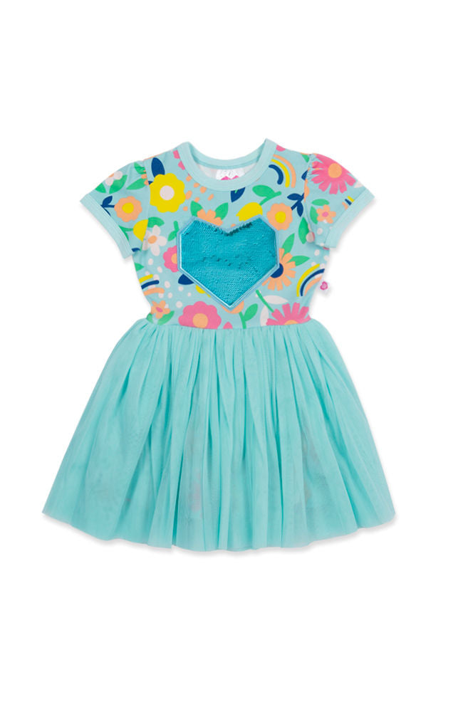 Flower Power tutu dress