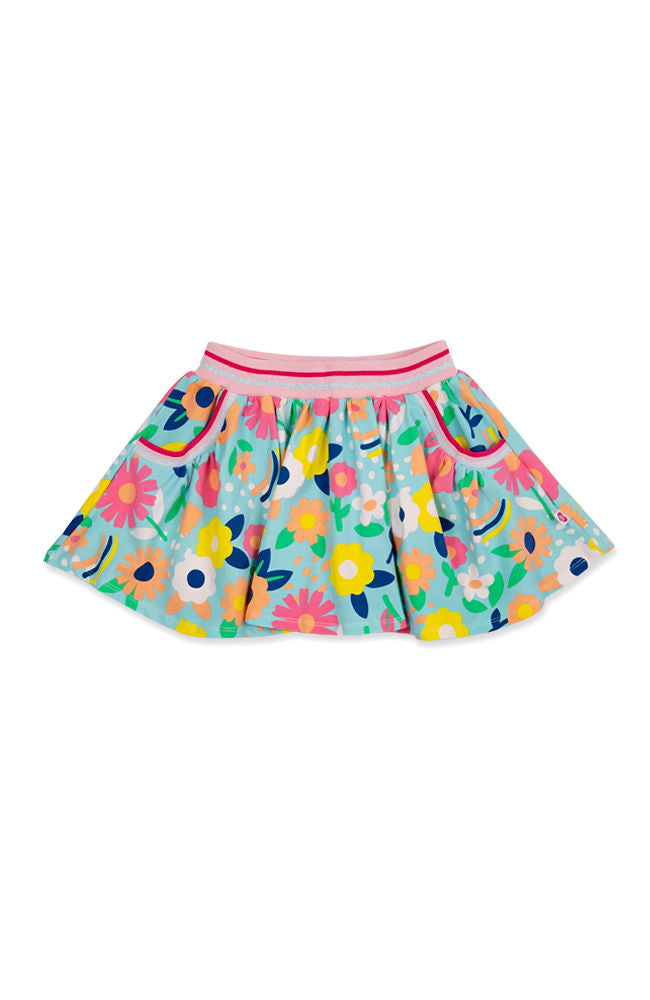 Flower Power skater skirt