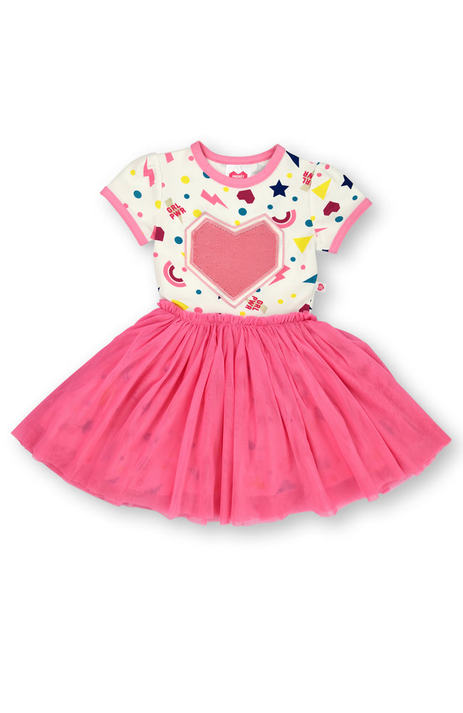 Stars & Shapes tutu dress