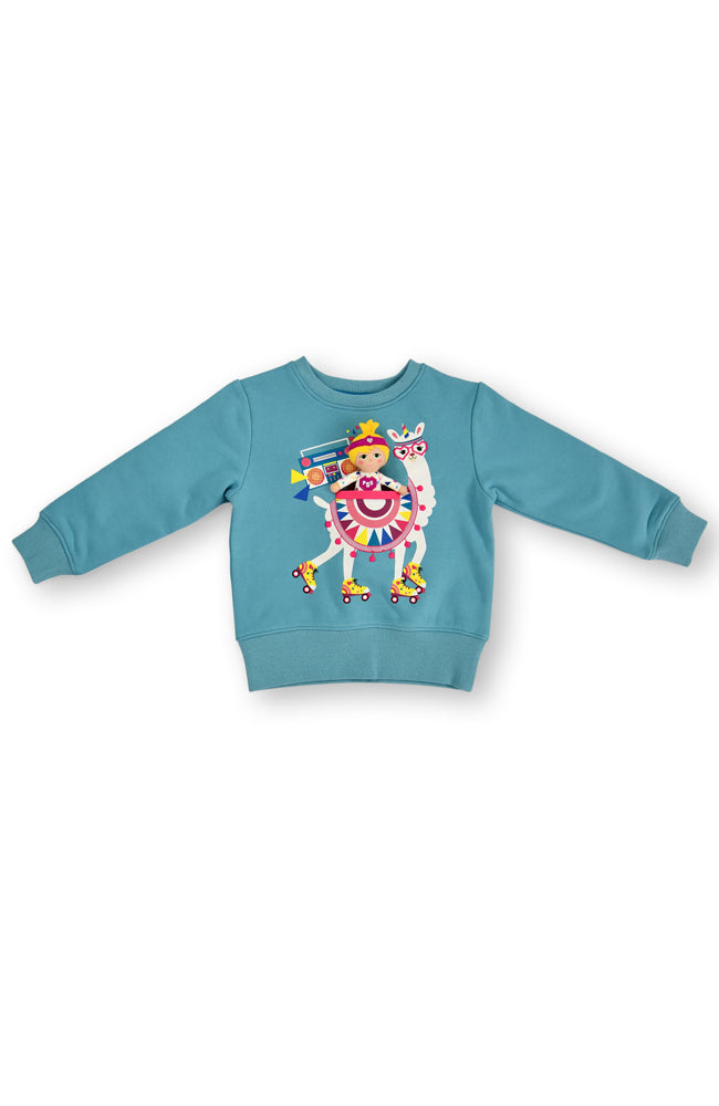 Rollerskating Llamicorn fleece jumper