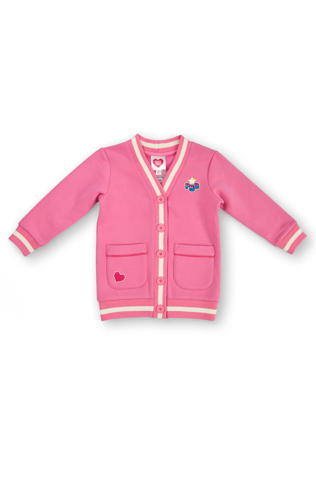 Girl Squad longline fleece cardigan