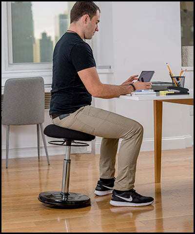 "Standing Desk Plus Wobble Chair, Adjusts from 21.5""-32"""