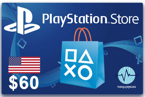 PlayStation Store USA - Gift Card $60 - Todo Licencias PTY