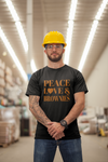 """Peace, Love & Brownies"" Short-Sleeve Unisex T-Shirt"
