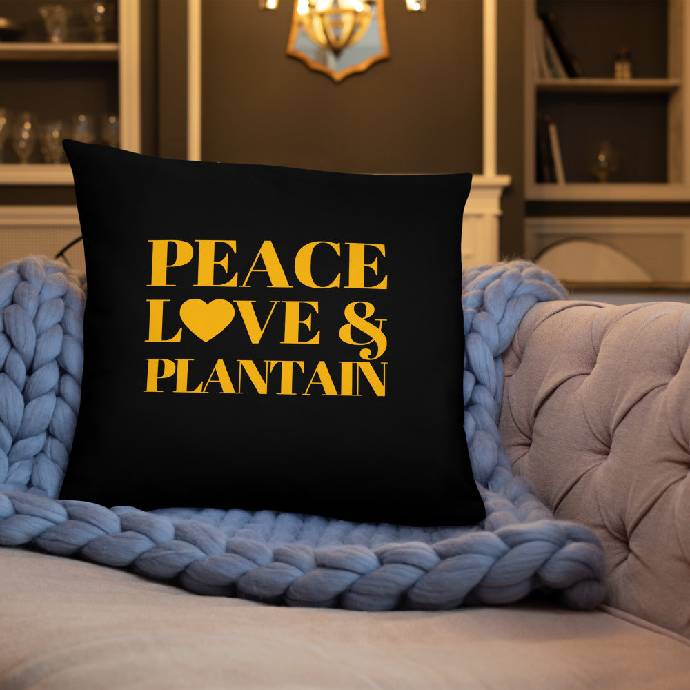 Peace, Love & Plantain Pillow