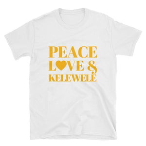Peace Love & Kelewele Short-Sleeve Unisex T-Shirt