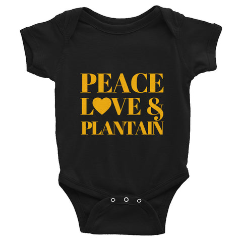 Peace, Love & Plantain Infant Bodysuit