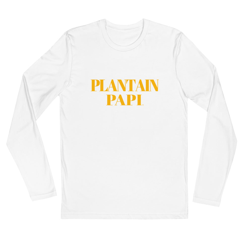 """Plantain Papi"" Long Sleeve Fitted Crew"