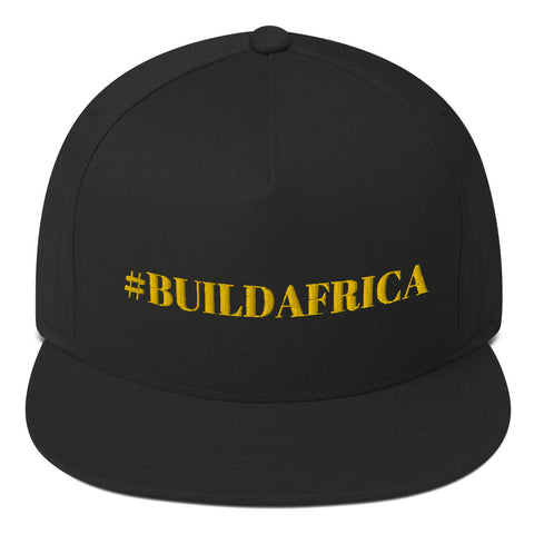 """#buildafrica"" Flat Bill Cap"