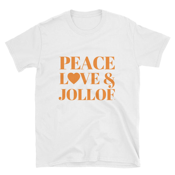 Peace, Love & Jollof Short-Sleeve Unisex T-Shirt