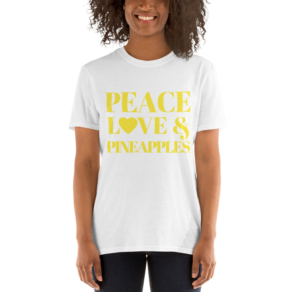 Peace, Love & Pineapples Unisex T-Shirt